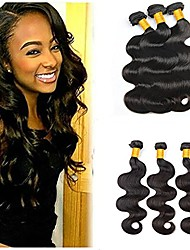 cheap -6 Bundles Indian Hair Body Wave Unprocessed Human Hair / Human Hair Gifts / Natural Color Hair Weaves / Tea Party Favors 8-28 inch Human Hair Weaves Waterfall / Soft / Hot Sale Natural Color Human