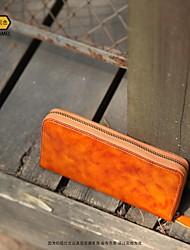 baratos -sacos de mulheres carteira de couro napa zipper preto / camelo / marrom