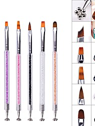 Недорогие -1 ед. Искусственные советы для ногтей Инструмент для ногтей расставить инструменты Модный дизайн / Творчество маникюр Маникюр педикюр Геометрический рисунок / Офис / Карьера На каждый день