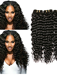 cheap -Peruvian Hair Deep Wave Gifts / Cosplay Suits / Natural Color Hair Weaves 3 Bundles 8-28 inch Human Hair Weaves Creative / Smooth / Hot Sale Natural Color Human Hair Extensions Women's