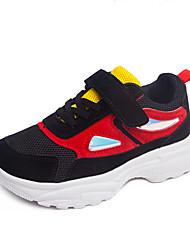 abordables -Fille Chaussures Maille Automne hiver Confort Basket Basketball La boucle du crochet pour Enfants Blanc / Noir / Rose