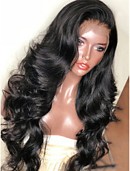 cheap -Synthetic Wig / Synthetic Lace Front Wig Wavy Layered Haircut Synthetic Hair With Baby Hair / Soft / Heat Resistant Black Wig Women's Long Lace Front Natural Black / Yes / Natural Hairline