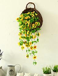 abordables -Fleurs artificielles 1 Une succursale Fixation Murale Moderne / Contemporain Fleurs éternelles Guirlande et Fleur Murale
