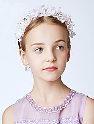 cheap -Fabrics Headbands with Floral 1pc Wedding / Party / Evening Headpiece