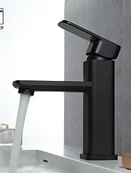 Недорогие -Ванная раковина кран - Новый дизайн черный Другое Одной ручкой одно отверстиеBath Taps