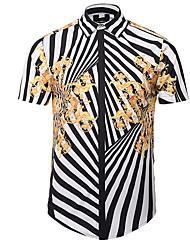 cheap -men's shirt - floral / striped shirt collar