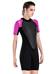 cheap -SBART Women's 2mm SCR Neoprene Diving Suit Quick Dry Short Sleeve Back Zip Solid Colored Summer / Stretchy