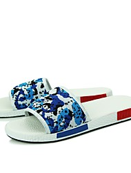 cheap -Men's Shoes PU(Polyurethane) Summer Comfort Slippers & Flip-Flops White / Black / Blue