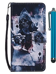 cheap -Case For Huawei P20 lite / Huawei P smart Wallet / Card Holder / with Stand Full Body Cases Skull Hard PU Leather for Huawei P20 / Huawei P20 lite / P10 Lite