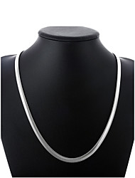 abordables -Hombre Cadena gruesa / Hebra Única Collares de cadena - Plateado Simple, Básico, Moda Plata 50 cm Gargantillas 1pc Para Diario, Calle