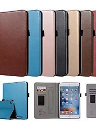 Недорогие -Кейс для Назначение Apple iPad Mini 5 / iPad New Air (2019) / iPad Mini 3/2/1 Бумажник для карт / со стендом / Магнитный Чехол Однотонный Твердый Кожа PU