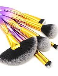 abordables -7 PC Pinceles de maquillaje Profesional Cepillo para Colorete / Pincel para Sombra de Ojos / Cepillo para Polvos Fibra de nilón / Fibra Cobertura completa Plástico