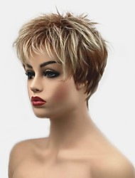 cheap -Synthetic Wig Straight Blonde Pixie Cut Synthetic Hair Synthetic Blonde Wig Women's Short Capless