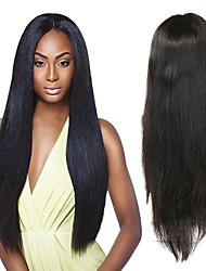 Недорогие -Натуральные волосы Полностью ленточные Парик Малазийские волосы Прямой Черный Парик Ассиметричная стрижка 130% 150% 180% Плотность волос с детскими волосами Без запаха Шерсть Новое поступление Мода