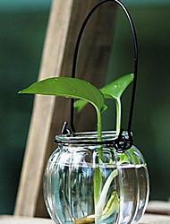 economico -Stile europeo vetro / Ferro Portacandele Candelabro 1pc, Candela / portacandele