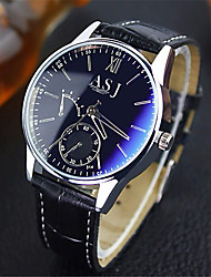 cheap -ASJ Men's Wrist Watch Water Resistant / Water Proof Leather Band Analog Casual Brown - Blue Black Black / White One Year Battery Life / SSUO SR626SW