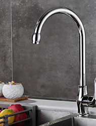 cheap -Kitchen faucet - Designed in China / fixed Brushed Steel Standard Spout Free Standing