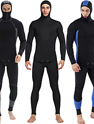 cheap -Men's Full Wetsuit 3mm SBR Neoprene Diving Suit Anatomic Design Long Sleeve Back Zip Solid Colored