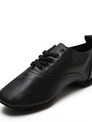 preiswerte -Herrn Schuhe für den lateinamerikanischen Tanz Leder Sneaker Flacher Absatz Tanzschuhe Weiß / Schwarz