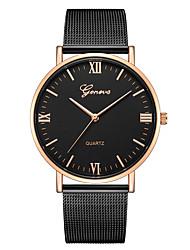 baratos -Geneva Mulheres Relógio de Pulso Chinês Novo Design / Relógio Casual / Legal Lega Banda Casual / Fashion Preta / Um ano