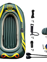 cheap -3-4 Persons Inflatable Boat Set with Hand Air Pump, Air Pad, French Oars PVC Portable folding Fishing / Boating 215*125*27 cm