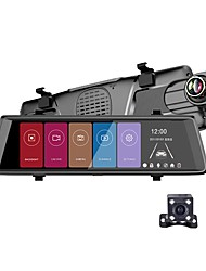 abordables -Factory OEM F900 720p HD / Vision nocturne DVR de voiture 140 Degrés Grand angle 0.8 MP 9.7 pouce IPS Dash Cam avec Vision nocturne / Enregistrement en Boucle / Enregistrement du cycle en boucle Non