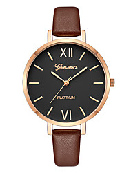 cheap -Geneva Women's Dress Watch / Wrist Watch Chinese New Design / Casual Watch / Cool Leather Band Casual / Fashion Brown / One Year