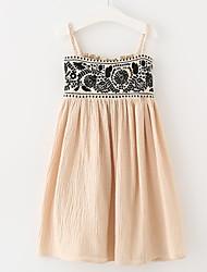 cheap -Kids Girls' Basic Geometric Print Sleeveless Knee-length Dress / Cotton
