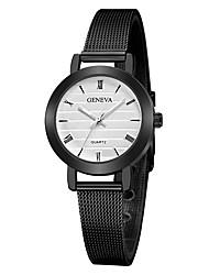 cheap -Geneva Women's Wrist Watch Quartz New Design Casual Watch Cool Alloy Band Analog Casual Fashion Black - Black / White Rose Gold Black / Rose Gold One Year Battery Life