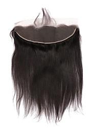 Недорогие -CARA Естественные кудри 4X13 Закрытие Прямой / Естественные кудри Бесплатный Часть Французское кружево Натуральные волосы Жен.