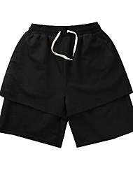 abordables -pantalones cortos para hombres - patchwork de color sólido
