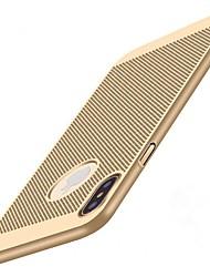 Недорогие -Кейс для Назначение Apple iPhone X / iPhone 8 Защита от удара / Ультратонкий Кейс на заднюю панель Однотонный Твердый ПК для iPhone X / iPhone 8 Pluss / iPhone 8