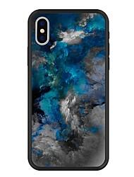 Недорогие -Кейс для Назначение Apple iPhone X / iPhone 8 Plus С узором Кейс на заднюю панель Мрамор / Градиент цвета Твердый Акрил для iPhone X / iPhone 8 Pluss / iPhone 8