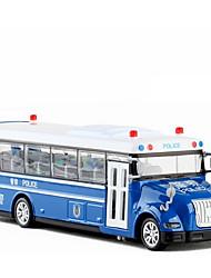 Недорогие -Игрушечные машинки Полицейская машинка Автобус Транспорт Новый дизайн Металлический сплав Детские Для подростков Все Мальчики Девочки Игрушки Подарок 1 pcs