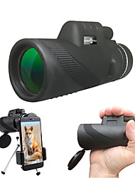 cheap -40 X 60 mm Monocular Black Camping / Hiking / Caving / Traveling / Yes
