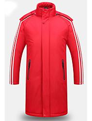 cheap -Men's Long Down - Striped Hooded / Long Sleeve