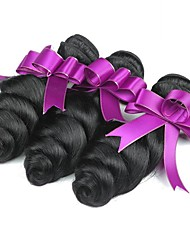 cheap -3 Bundles Brazilian Hair Wavy Human Hair Natural Color Hair Weaves / Extension 8-28 inch Human Hair Weaves Machine Made Best Quality / Hot Sale / For Black Women Natural Natural Color Human Hair