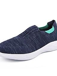 cheap -Women's Shoes Mesh / Elastic Fabric Summer Comfort Loafers & Slip-Ons Walking Shoes Flat Heel Round Toe Black / Dark Blue