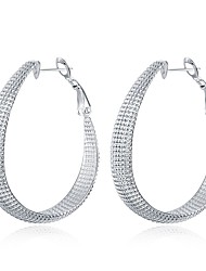 abordables -Femme Boucles d'oreille goutte - Plaqué argent Mode Argent Pour Quotidien