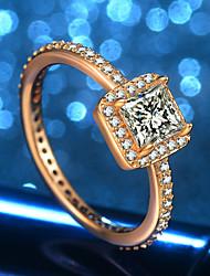 abordables -Femme Stylé Bague - Dorage 18K, Imitation Diamant Original, Branché, Elégant 5 / 6 / 7 / 8 / 9 Or Pour Mariage Formel