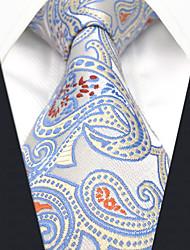 Недорогие -Муж. Для вечеринки / Для офиса Галстук Контрастных цветов / Огурцы / Жаккард Синий и белый