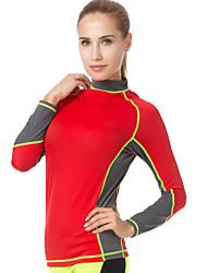 cheap -WELLPATH Women's Diving Rash Guard SPF50, UV Sun Protection, Quick Dry Lycra Long Sleeve Swimwear Beach Wear Sun Shirt / Top Patchwork Swimming / Diving / Surfing