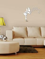 Недорогие -Декоративные наклейки на стены - 3D наклейки / Зеркальные стикеры Геометрия / 3D Гостиная / В помещении
