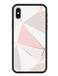Недорогие -Кейс для Назначение Apple iPhone X / iPhone 8 Plus С узором Кейс на заднюю панель Геометрический рисунок Твердый Акрил для iPhone X / iPhone 8 Pluss / iPhone 8