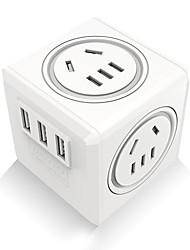 Недорогие -Зарядное устройство USB QF-M12-1C 4 Настольная зарядная станция С быстрой зарядкой 2.0 Стандарт Великобритании Адаптер зарядки
