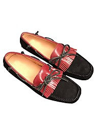 abordables -Hombre Ante Verano Confort Calzado de Barco Negro / Almendra
