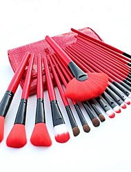 cheap -24pcs Makeup Brushes Professional Makeup Brush Set Pony / Nylon / Synthetic Hair Limits Bacteria Big Brush / Middle Brush / Pony Brush