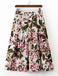 billige -Dame A-linje Nederdele - I-byen-tøj Blomstret