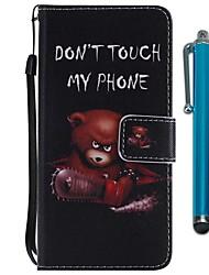 abordables -Funda Para Sony Xperia XZ2 Compact / Xperia XZ2 Cartera / Soporte de Coche / con Soporte Funda de Cuerpo Entero Animal Dura Cuero de PU para Xperia XZ2 / Xperia XZ2 Compact / Xperia XZ1 Compact