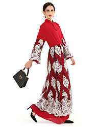 cheap -BENEVOGA Women's Sophisticated Street chic Swing Jalabiya Abaya Dress - Floral Color Block Lace Mesh
